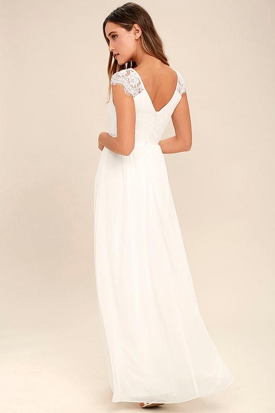 Whimsical Wonder White Lace Maxi Dress 3