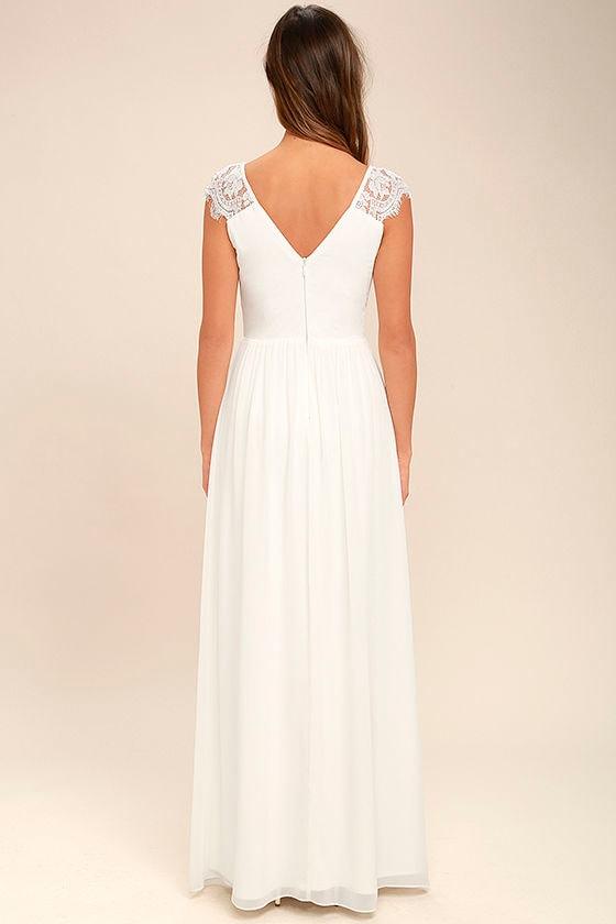 Whimsical Wonder White Lace Maxi Dress 4