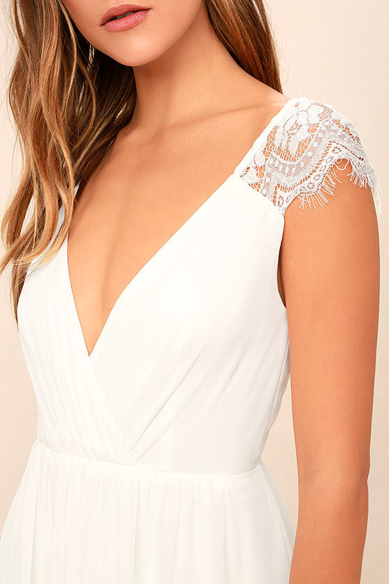 Whimsical Wonder White Lace Maxi Dress 5