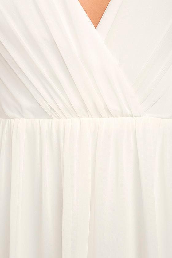 Whimsical Wonder White Lace Maxi Dress 6