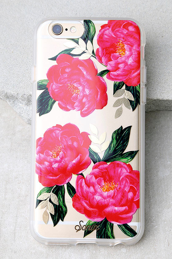 Sonix Cora Clear and Pink Floral Print iPhone 6 and 6s Case 1