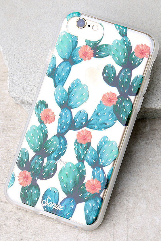 Sonix Agave Clear and Green Cactus Print iPhone 7 Case 1