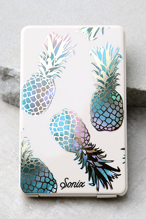 Sonix Liana Pick Me Up Teal Pineapple Print Portable Charger 2