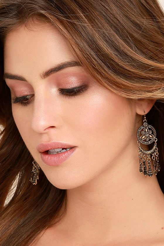 Only a Dream Gold Earrings 1
