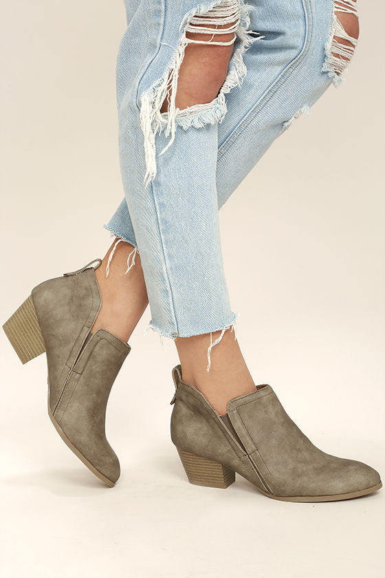 Tanesha Taupe Ankle Booties 2