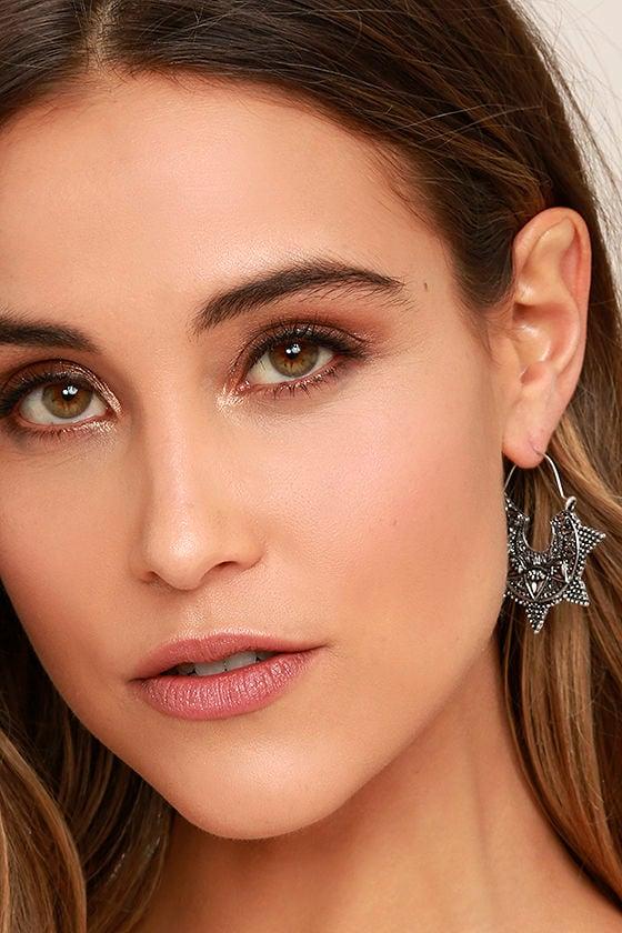Spiritual Burst Silver Earrings 2