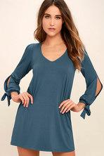f1c6f163 Long Sleeve Dress- Shift Dress - Blush Dress - $59.00