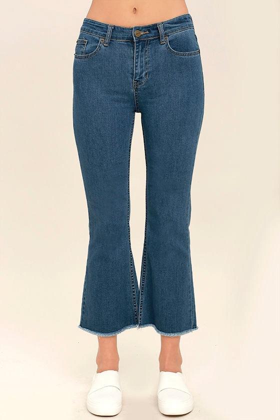 Amuse Society Coastline Medium Wash Cropped Flare Jeans 2