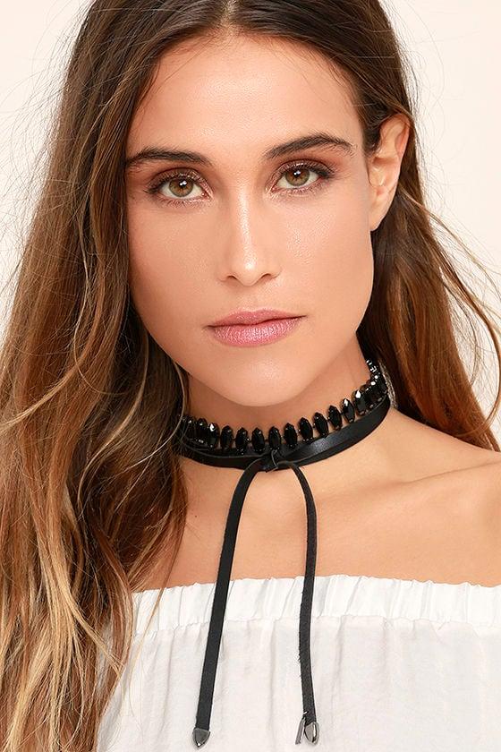 Same Wavelength Black Wrap Necklace 1