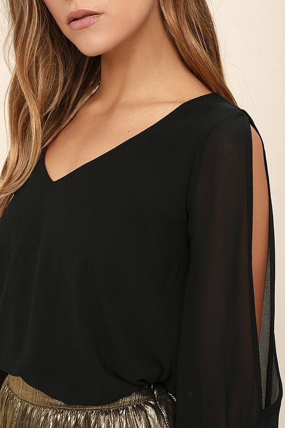 Daily Romance Black Long Sleeve Top 5
