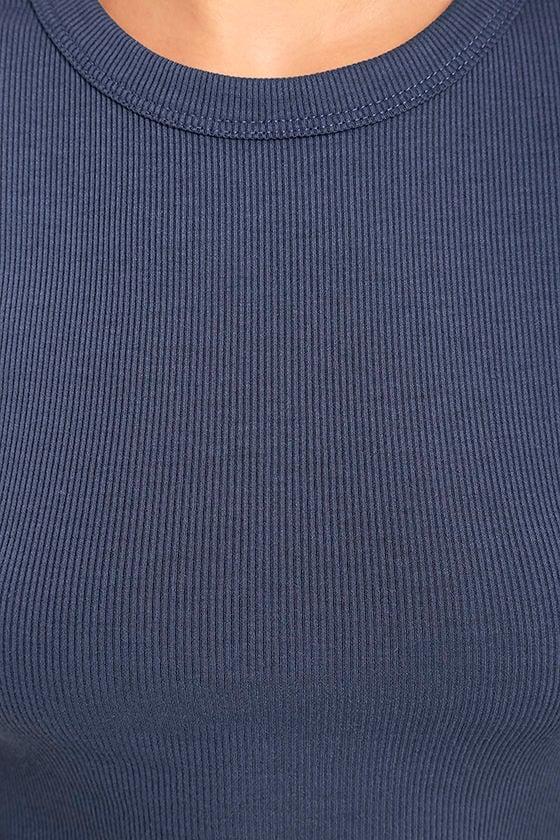Hey Good Lookin' Short Sleeve Slate Blue Dress 6