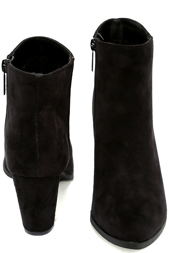 Ryleigh Black Suede Ankle Booties 3