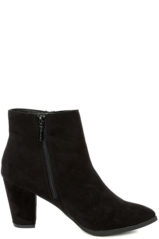 Ryleigh Black Suede Ankle Booties 4