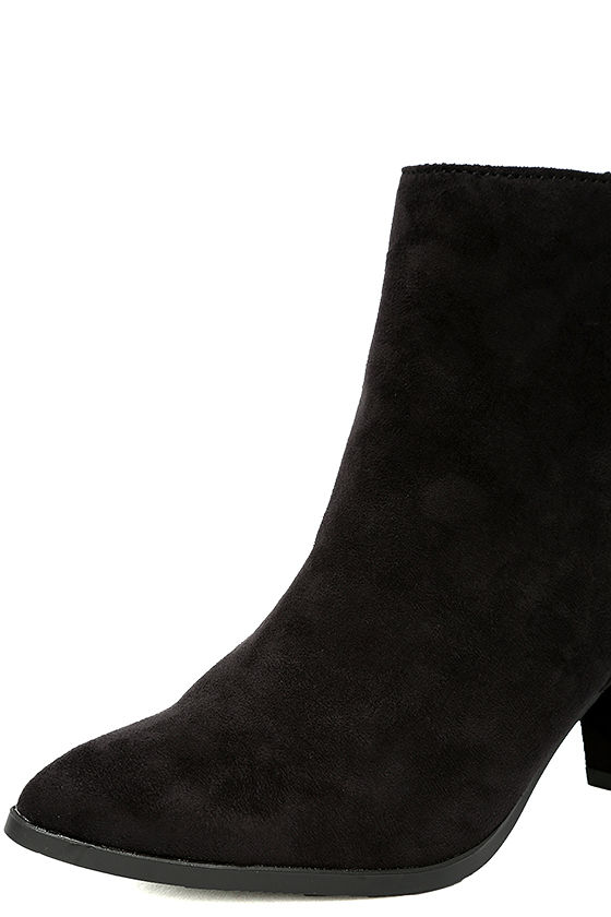 Ryleigh Black Suede Ankle Booties 6