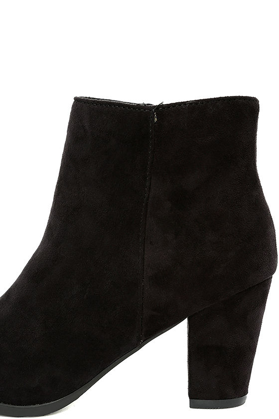 Ryleigh Black Suede Ankle Booties 7