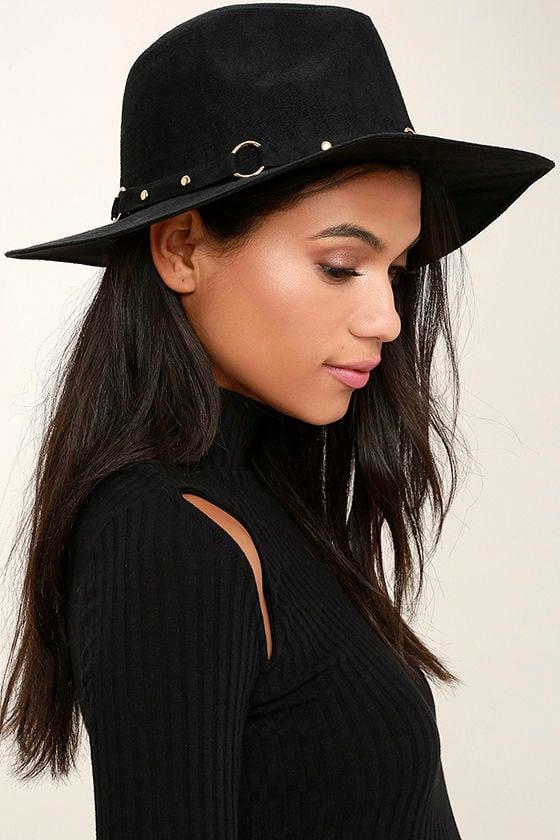 Gone Rogue Black Fedora Hat 1