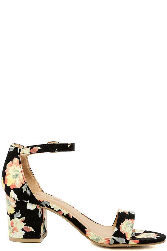 Ft. Lauderdale Black Multi Ankle Strap Heels 4