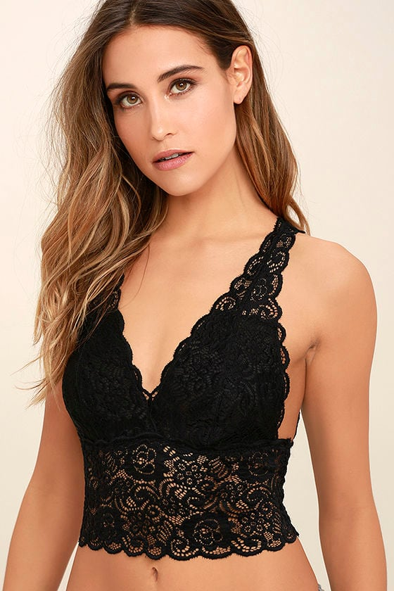 It Was All a Dream Black Lace Bralette 1