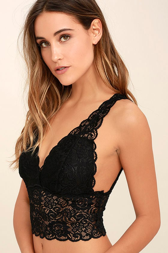 It Was All a Dream Black Lace Bralette 2