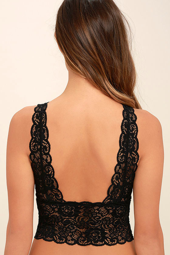 It Was All a Dream Black Lace Bralette 3