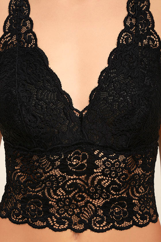 It Was All a Dream Black Lace Bralette 5