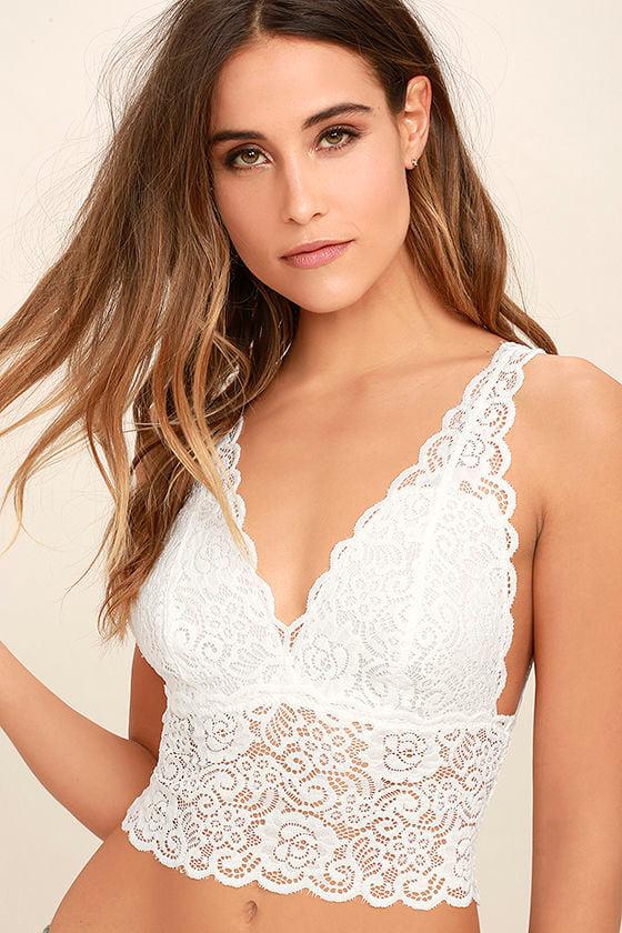 4d996263e7 Sexy White Bralette - Lace Bralette -  19.00
