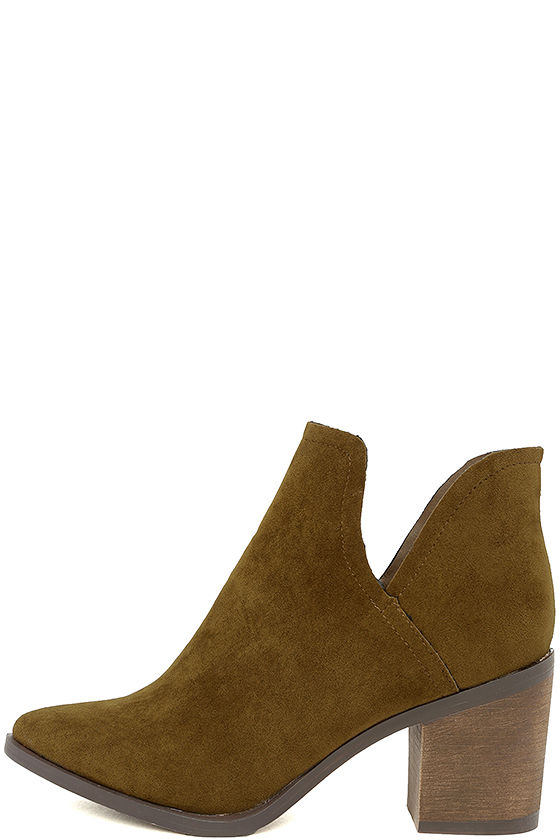 Ezra Tan Suede Ankle Booties 2