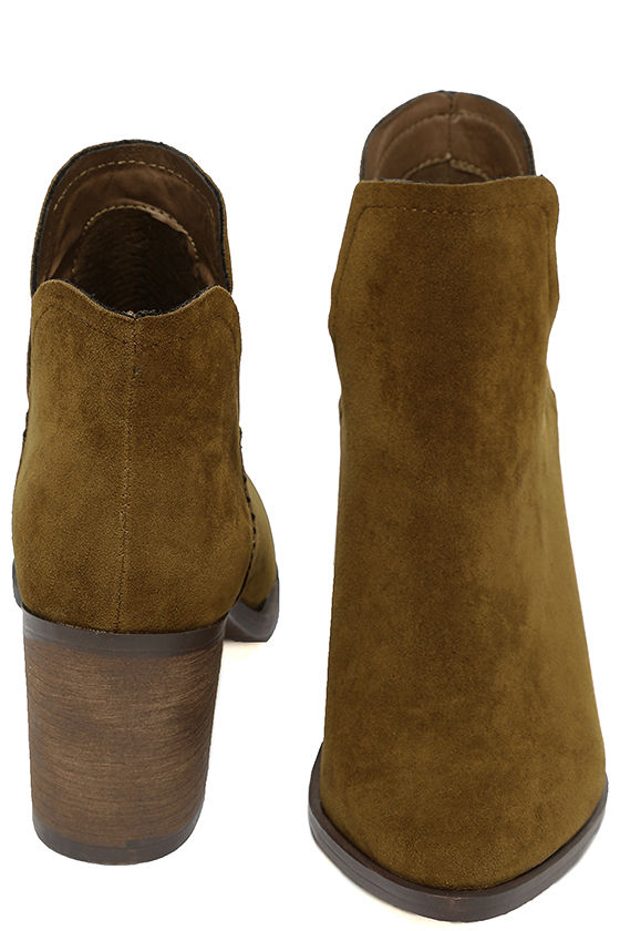 Ezra Tan Suede Ankle Booties 3