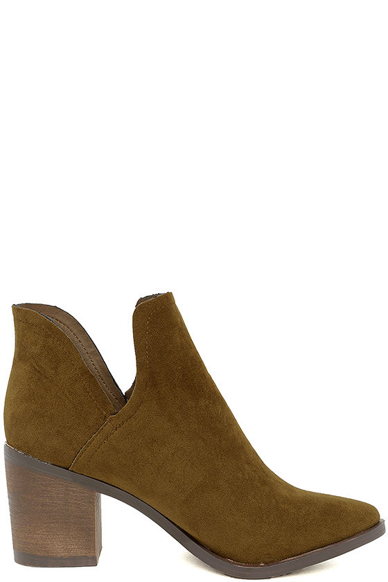 Ezra Tan Suede Ankle Booties 4