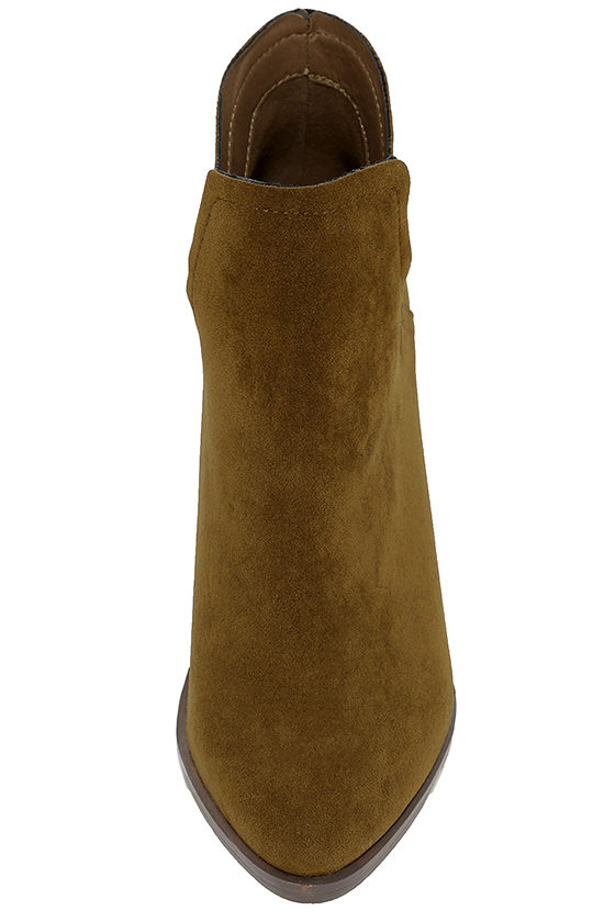 Ezra Tan Suede Ankle Booties 5