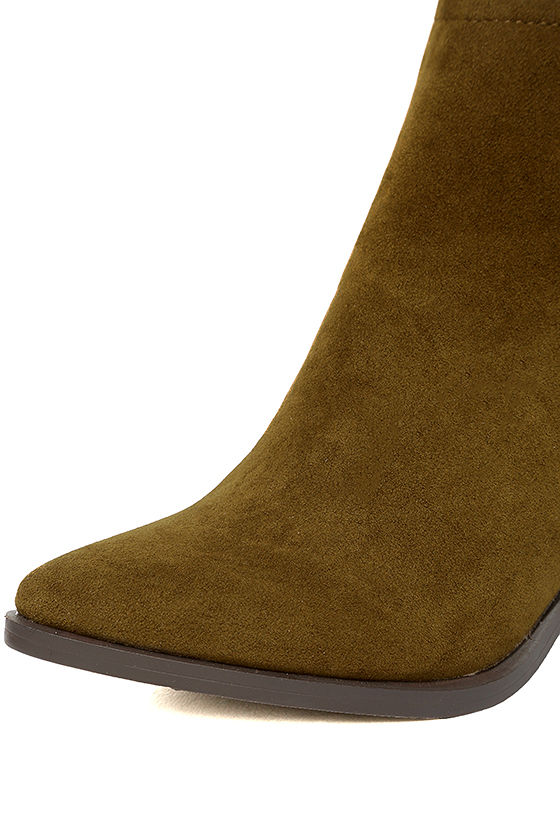 Ezra Tan Suede Ankle Booties 6