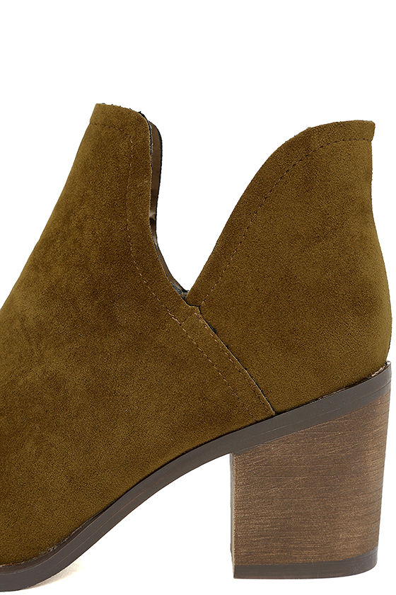Ezra Tan Suede Ankle Booties 7