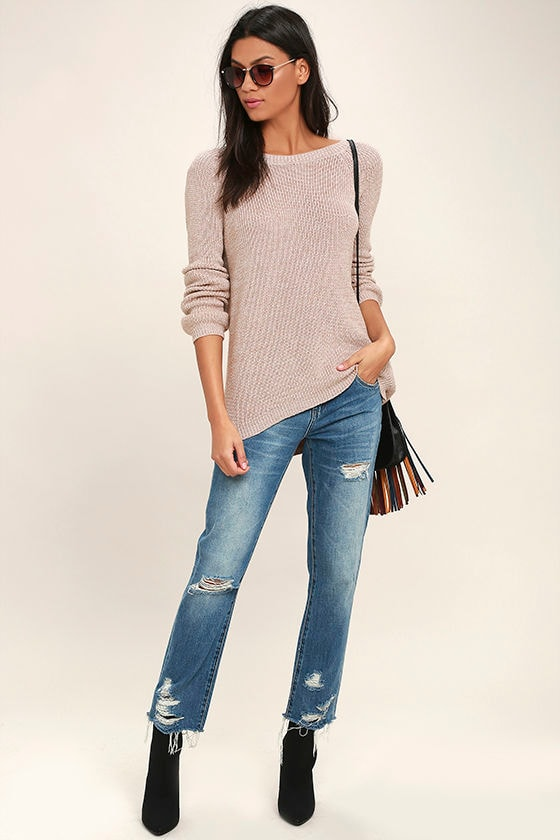 Pursuit of Happiness Beige Backless Sweater 2