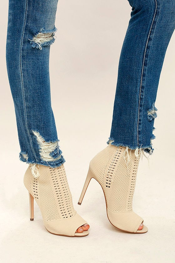 865054a049 Steve Madden Candid Booties - Knit Booties - Peep-Toe Booties -  129.00