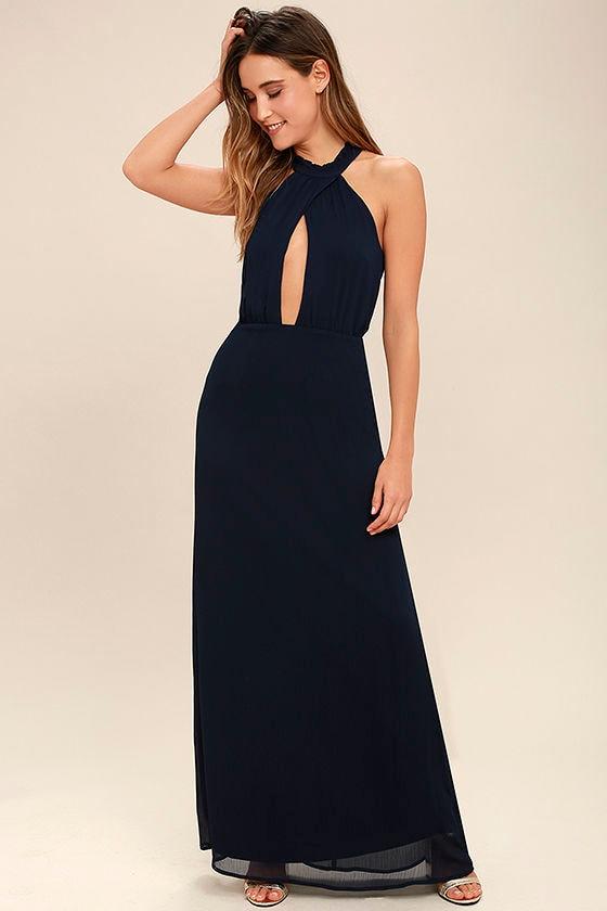 Beyond Explanation Navy Blue Maxi Dress 1