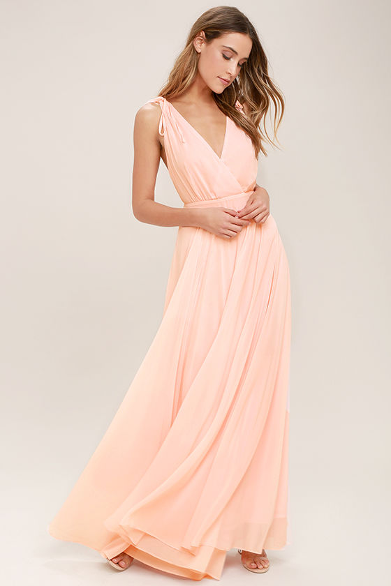 Dance the Night Away Blush Pink Backless Maxi Dress 1