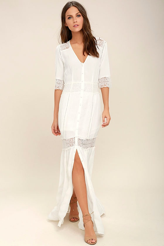 White or ivory lace dresses