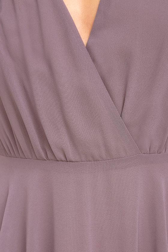 Dance the Night Away Dusty Purple Backless Maxi Dress 6