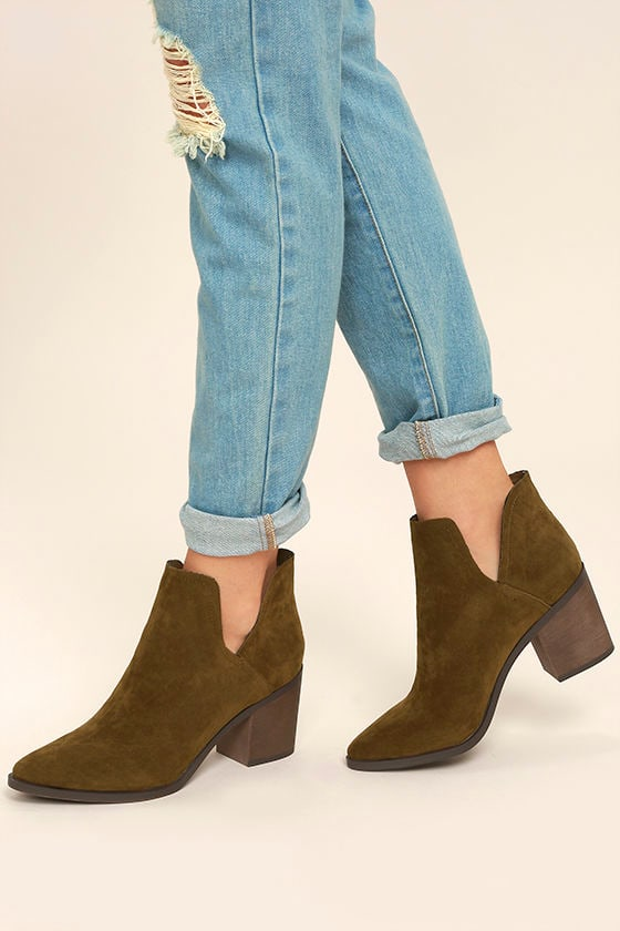 Ezra Tan Suede Ankle Booties 1