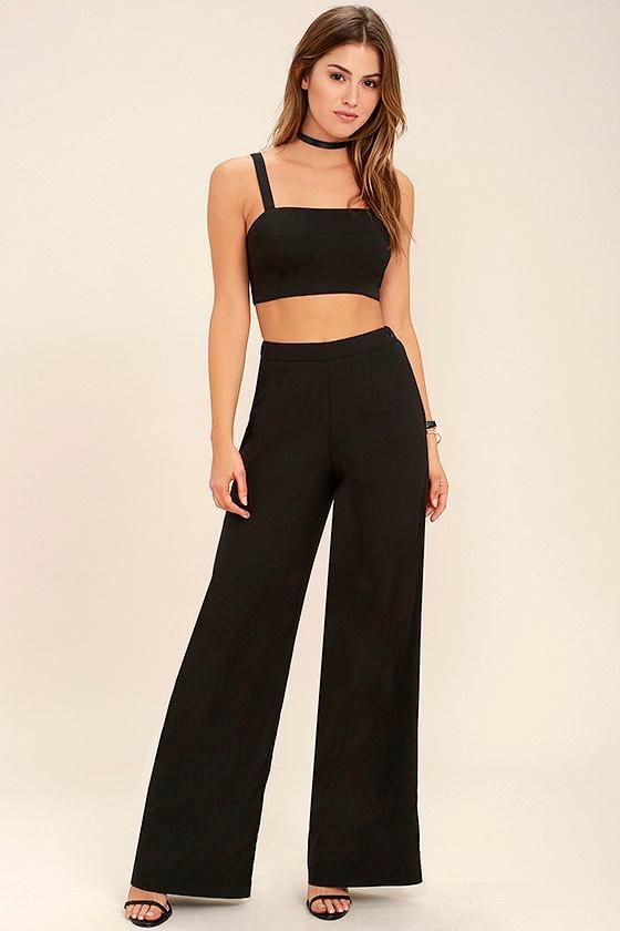 79313b6c410 Sexy Black Jumpsuit - Two-Piece Jumpsuit - Two-Piece Set - $64.00