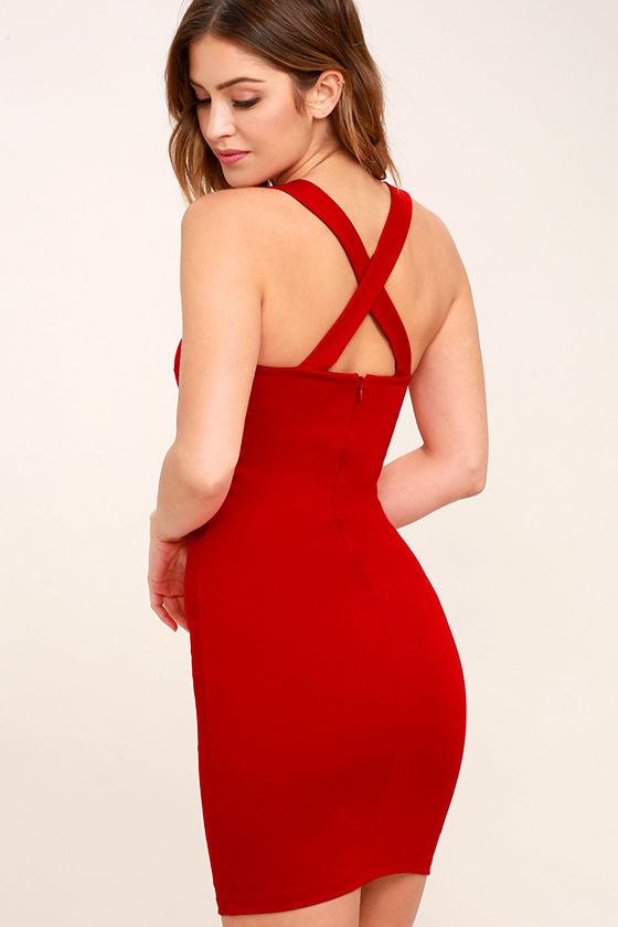 Play Time Red Bodycon Dress 3