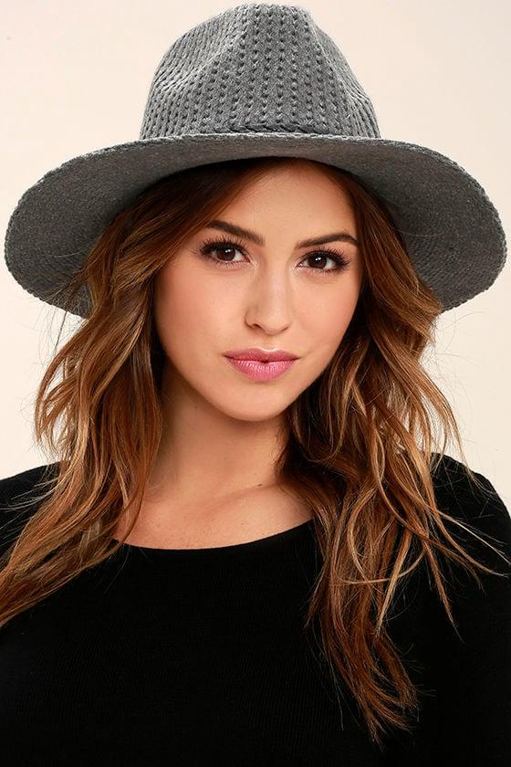 Treescape Grey Wool Fedora Hat 1