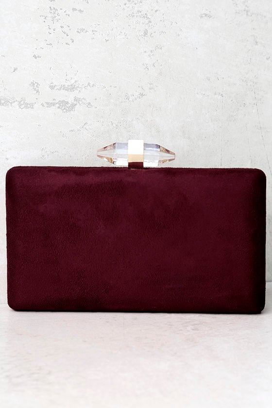 various kinds of select for clearance unique design Crystal Visions Burgundy Clutch