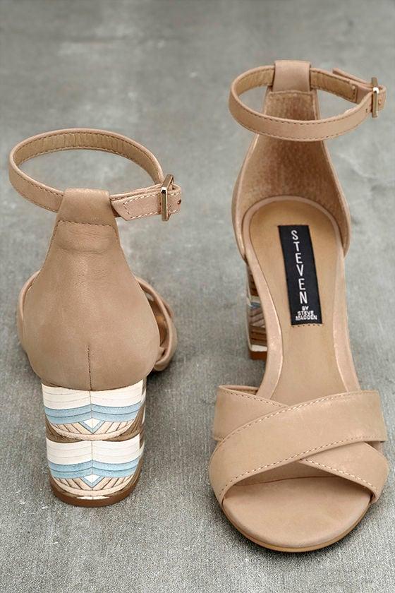 Steven by Steve Madden Voomme-S Tan Nubuck Leather Heels 3