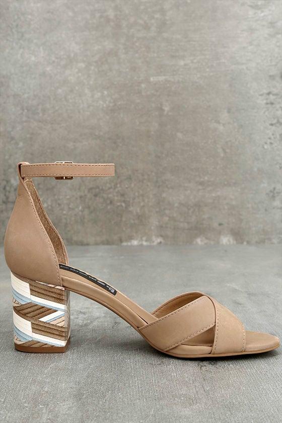 Steven by Steve Madden Voomme-S Tan Nubuck Leather Heels 4