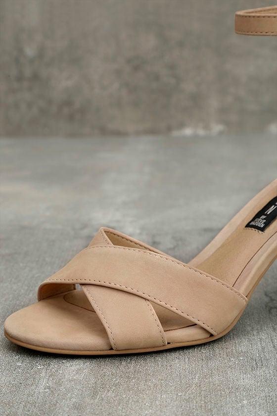 Steven by Steve Madden Voomme-S Tan Nubuck Leather Heels 6