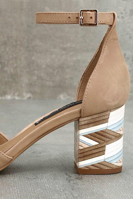 Steven by Steve Madden Voomme-S Tan Nubuck Leather Heels 7
