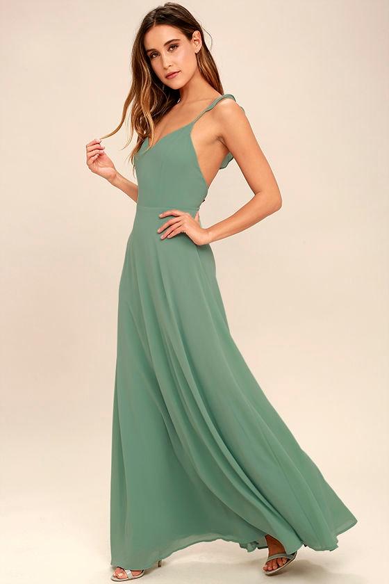Sage maxi dress