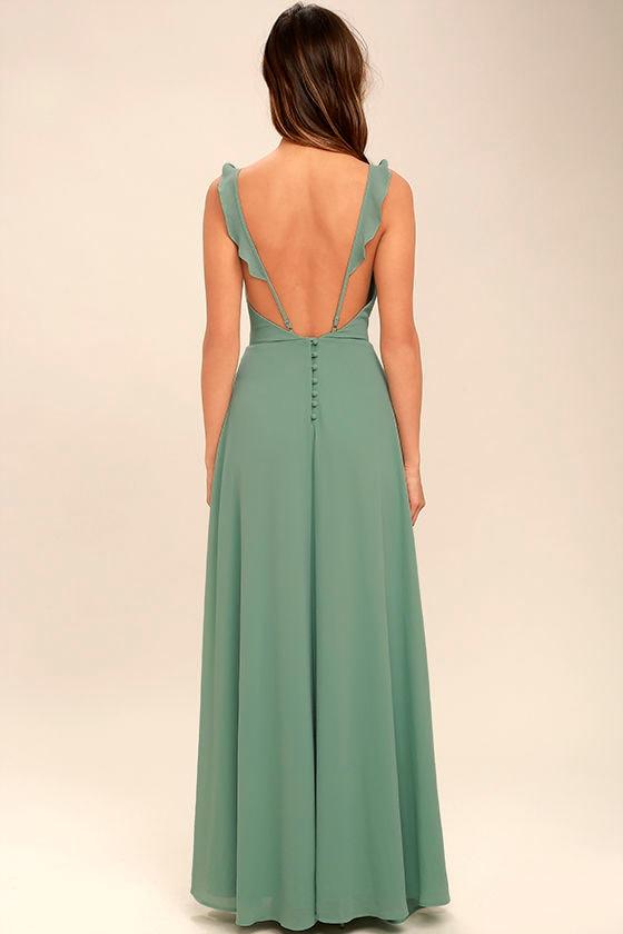 lovely sage green dress  maxi dress  sleeveless dress