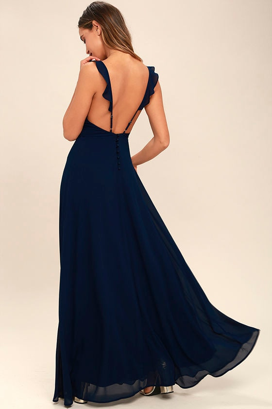 0ca77b7fb0 Lovely Navy Blue Dress - Maxi Dress - Sleeveless Dress - Bridesmaid Dress -  $89.00